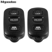 2Pcs 4 Buttons Panic Remote Car Key Fob HYQ12BBX For Toyota 4Runner 4-Runner Sequoia 2001-2008 315MHz Auto Replacement Shell