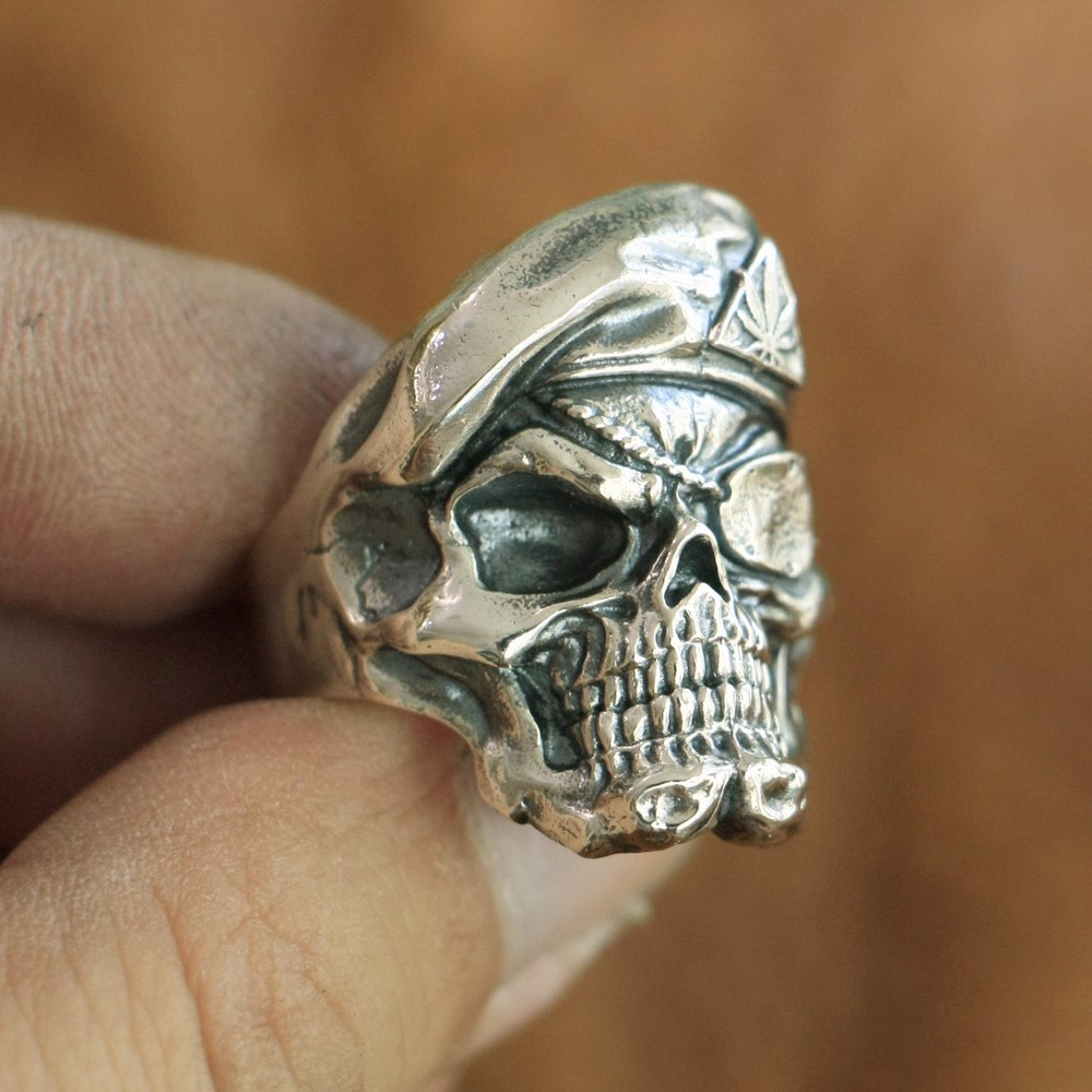 925 Sterling Silver Pirate Skull Ring Mens Biker Punk Ring TA99A US Size 7~15 925 sterling silver high details skull ring mens biker punk ring ta118a us 7 15