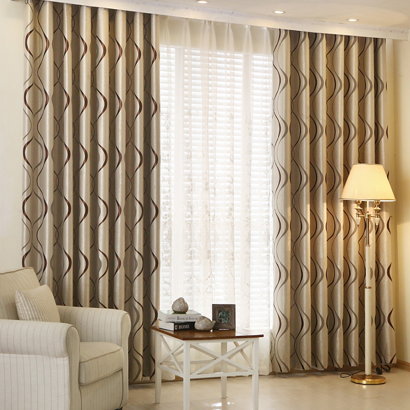 Sinogem Thick Luxury Wavy Striped Curtain Design for Living Room ...