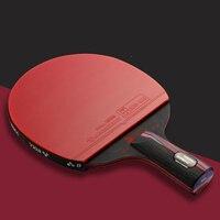 Professional Nanometre Carbon Fiber Table Tennis Bat Racket Long Short Handle Ping Pong Racket High Level