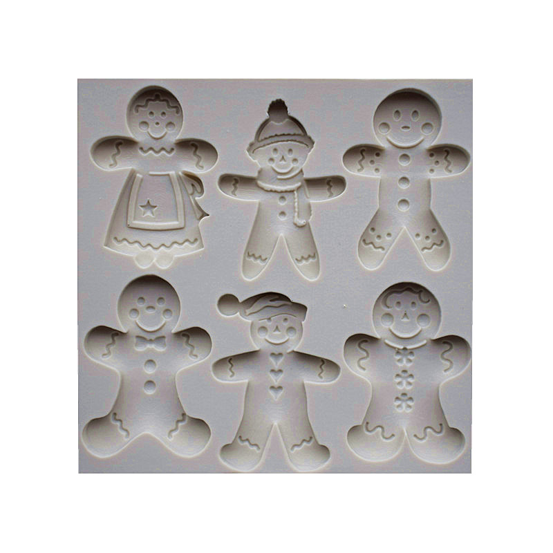 6 Cookies Dolls Silicone Molds, Christmas Sugar Cake Molds, Cake - Kitchen, Dining and Bar - Photo 5