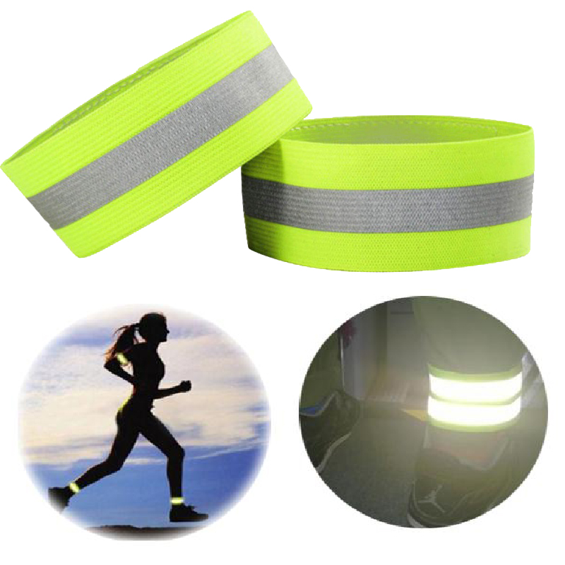 Brand High Visibility Reflective Vest Elastic Strap Wristbands Ankle Emergence Warning Night Running Cycling Sports Safety Vests
