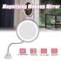 10X/5X LED Miroir de maquillage Miroir avec lumière LED Miroir de vanité Miroir grossissant LED Miroir grossissant avec lumière LED
