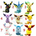 Pokemon eevee toy plush 9 pçs/set 17-21 cm pokemon set pelúcia Sylveon Eevee Espeon Jolteon Vaporeon Flareon Glaceon brinquedos