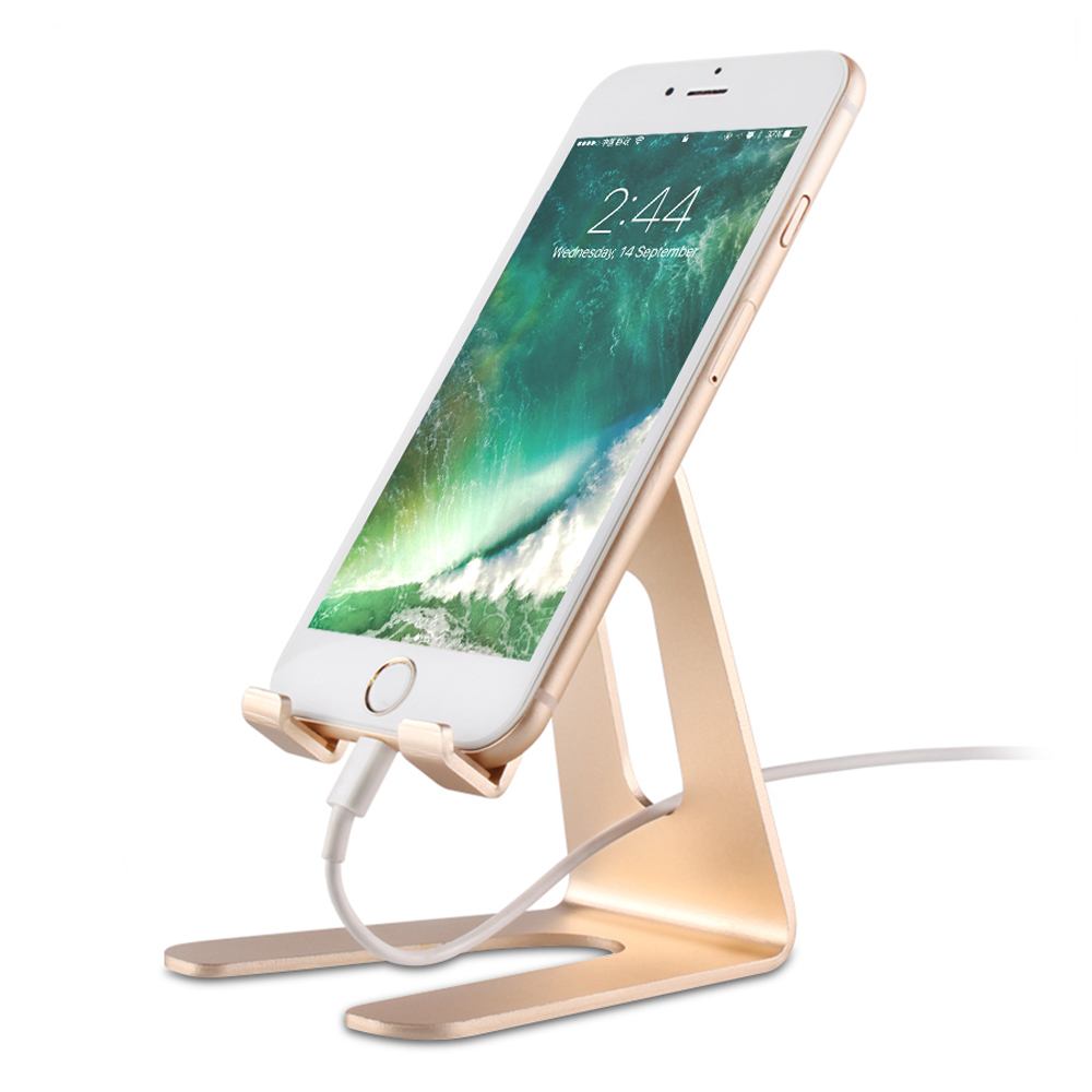 MR.YI Universal Mobile Phone Stand Holder For iPhone 7 8 6 6S Plus X Aluminum Desktop Brac