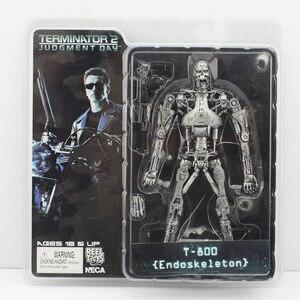 Image 5 - 18cm NECA Terminator 2 aksiyon figürü T 800 ENDOSKELETON Galleria merkezi Cyberdyne Showdown savaş boyunca zaman Pescadero Model oyuncaklar