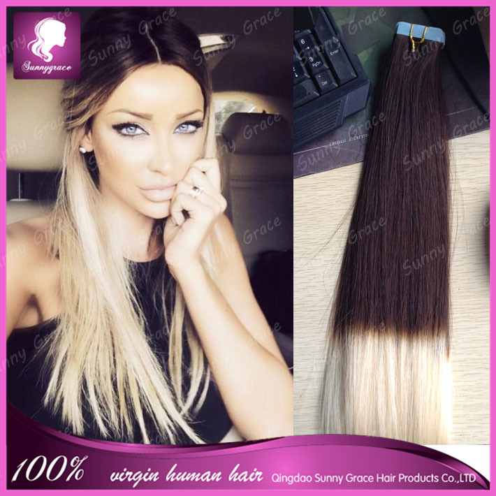 18 20 50pcs100g Color 2t Ombre Two Tone Dip Dye Pu Tape Hair