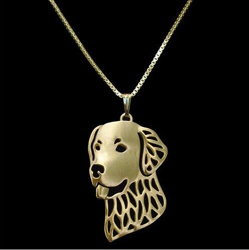 Ожерелье золотистого ретривера из сплава подвеска в виде собаки