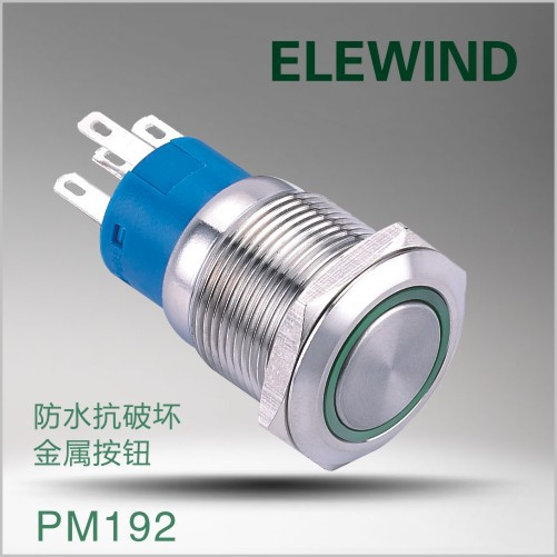 ELEWIND  push button switch(PM192F-22ZE/G/12V/S) push button switch xb4 series zb4bg2 zb4 bg2