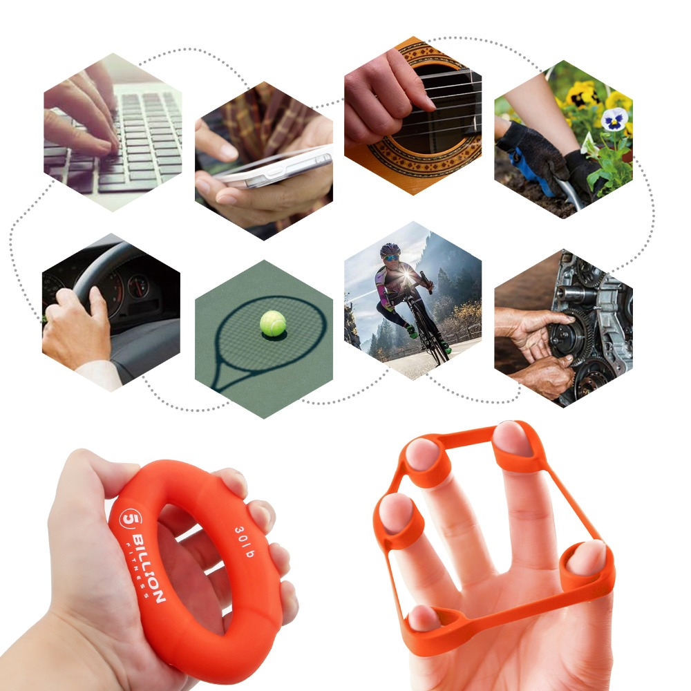 Usa Warehouse 3pcs Hand Gripper Grip Silicone Ring 3pcs Hand Resistance Band Finger Stretcher In Hand Grips From Sports Entertainment On Aliexpress Com