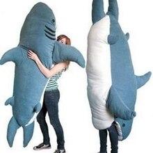 Dorimytrader Cartoon Animal Shark Beanbag Плюшевые мягкие акулы Игрушка Спящая сумка Tatami Sofa Mat Отличный подарок для детей Lover 2 Размеры