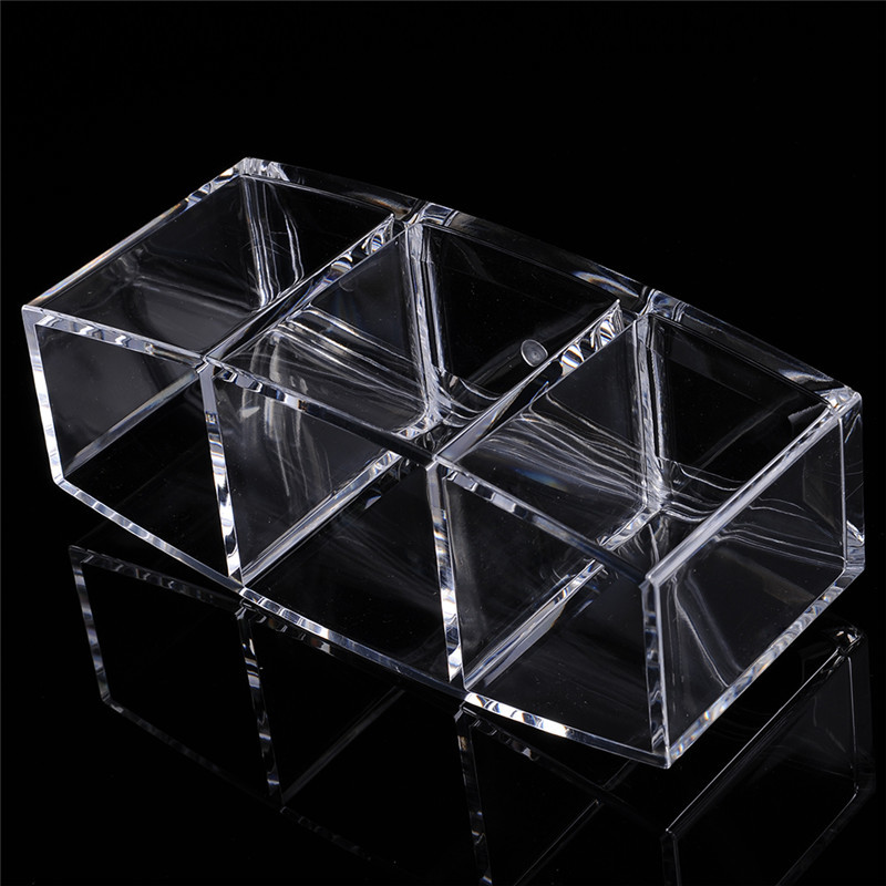Kristal Akrilik Kozmetik Organizatör Makyaj Fırça Tutucu Kozmetik - Evdeki Organizasyon ve Depolama - Fotoğraf 6