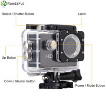 A7 2.0″ LCD Action Camera HD 720P Sport Camera 90 Degree Wide Angle Lens DV Waterproof Mini Camcorder For Extreme Sports Diving
