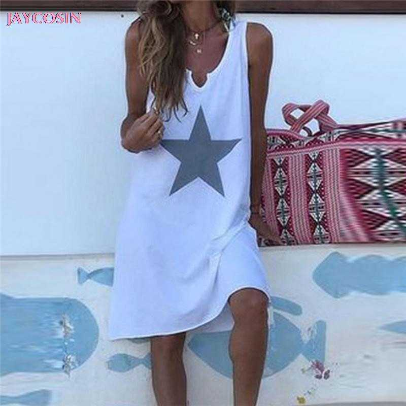 JAYCOSIN 2019 Dress Fashion Sexy Women'sBohemian Embroidered Beach Dress Chiffon Loose Beachwear PLUS S- 5XL Size Drop #0629