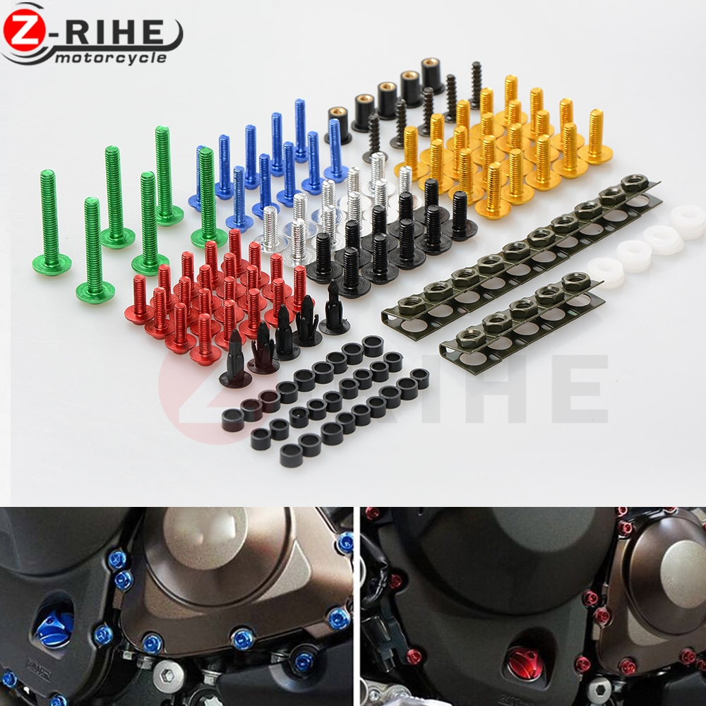 Universal Aluminum Motorcycle accessories Fairing Bolt Screw Fastener Fixation for BMW R1200RT R 1200 RT R 1200RT 2009-2014 2010 universal aluminum motorcycle accessories fairing bolt screw fastener fixation for mv agusta f4 rr 2011 2014 2012 2013 f3 675 ag