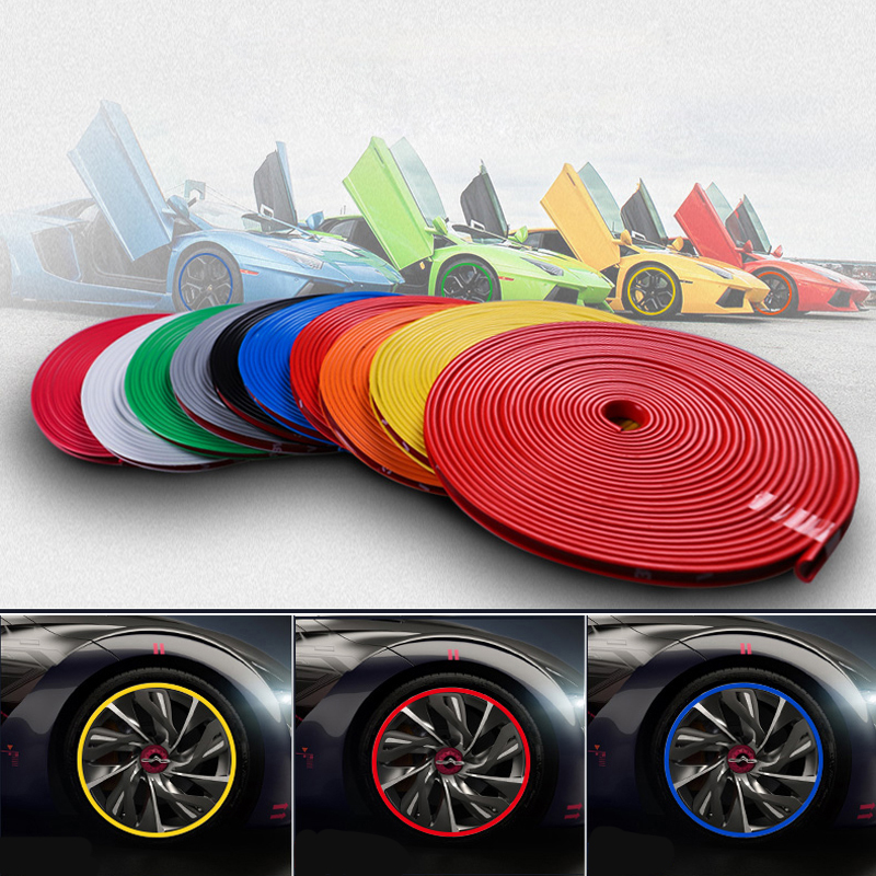 Car Wheel Rim Sticker <font><b>Chrome</b></font> Wheel Protection Decoration For <font><b>Mercedes</b></font> Benz W202 W220 W204 W203 W210 <font><b>W124</b></font> W211 W222 X204 AMG CLK image