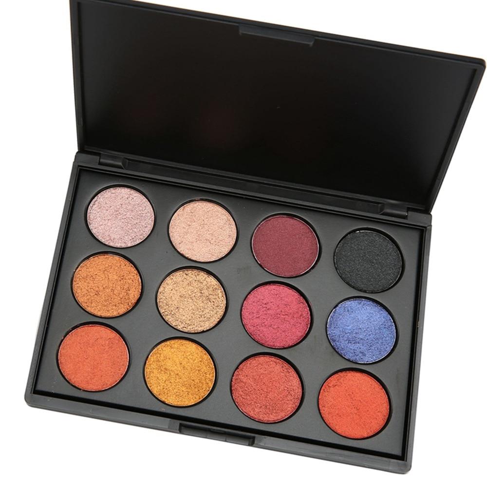 12 farben Matte lidschatten Pallete Make Up Erde Palette Lidschatten Make-Up Glitter Wasserdicht Dauerhafte Make-Up Einfach zu Tragen