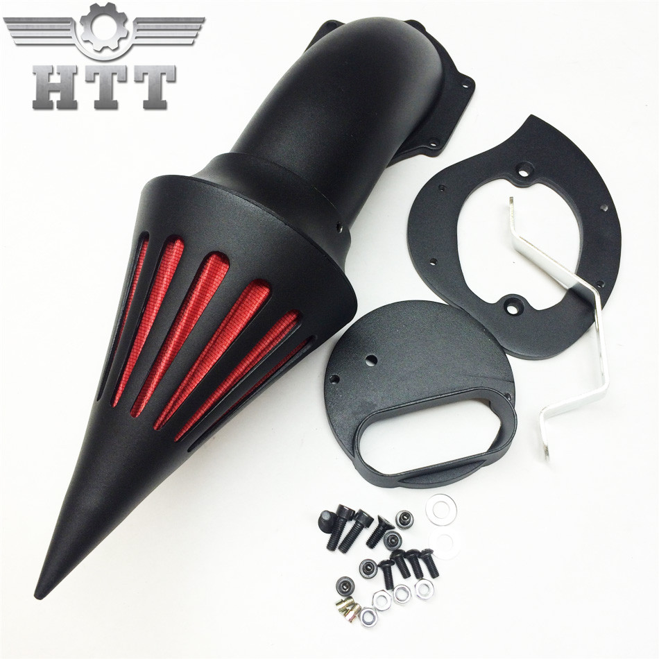 Aftermarket free shipping motorcycle parts Spike Air Cleaner filter for Yamaha V-Star 1100 Dragstar XVS1100 1999-2012 BLACK aftermarket motorcycle parts chrome spike air cleaner for yamaha road star 1600 xv1600a 1700 xv1700 1999 2012