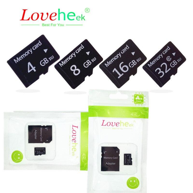 Высокое качество карты памяти Micro TF карты памяти для мобильного телефона/планшета/Камера 2 г 4 г 8 г 16 г 32 г 64 г BT2