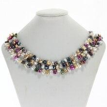 SNH 7-8 мм AA-Разноцветные Кеши жемчуг ожерелье 63 ''длинное жемчужное ожерелье ювелирные изделия для женщин