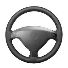 Сшитые вручную черные из искусственной кожи искусственная кожа Чехлы рулевого колеса автомобиля обертывание для Opel Astra(G) 1998-2004 Zafira(A) 1999