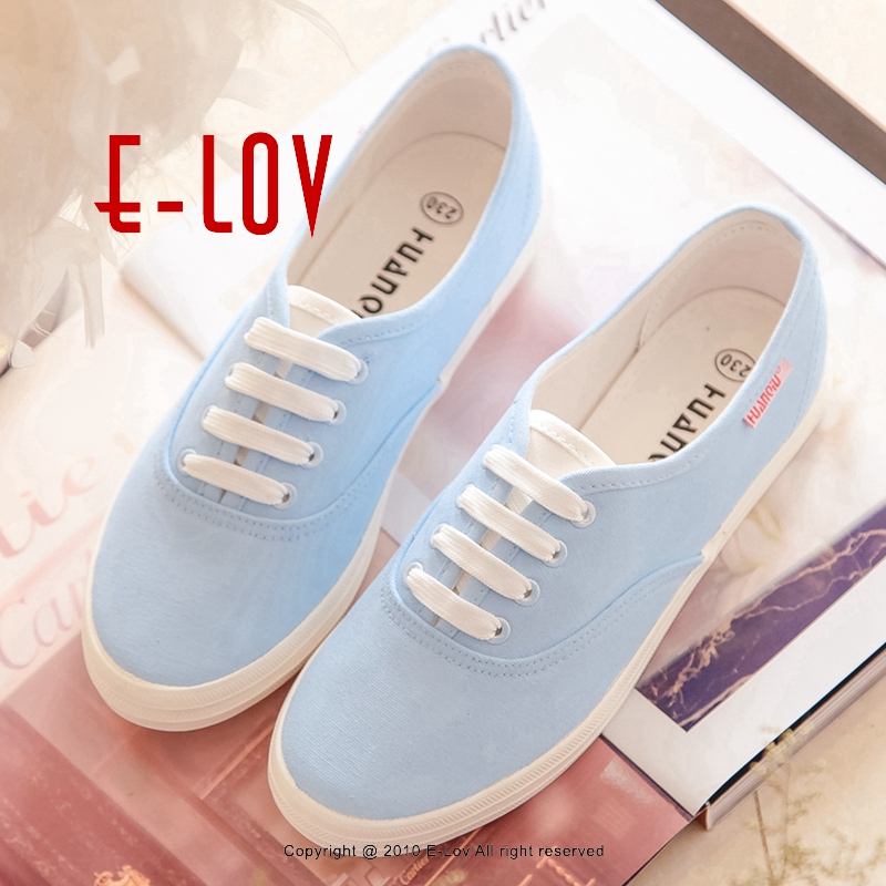 E-LOV Special Wathet Blue Design Comfortable Outdoor Canvas Shoes Superstar Shoes Women Adult Casual Shoes Cute Platform Shoes e lov women casual walking shoes graffiti aries horoscope canvas shoe low top flat oxford shoes for couples lovers