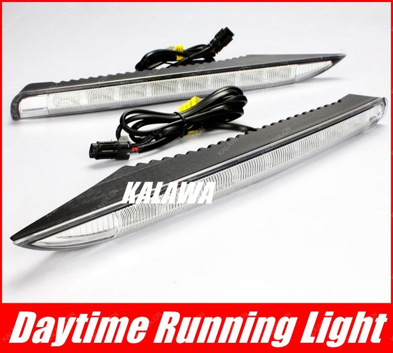 LED Daytime Running Lights Front Fog Lamp 6000K case for Renault Koleos Specialized DRL Turning light RN-012 GGG for opel astra h gtc 2005 15 h11 wiring harness sockets wire connector switch 2 fog lights drl front bumper 5d lens led lamp