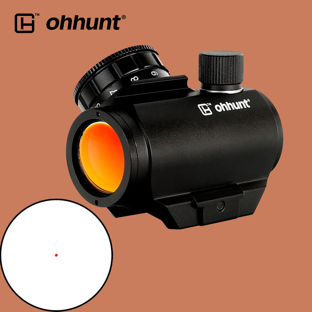 Ohhunt Tactical Compact 1X21 Red Dot Sight 3 MOA Scope With Quick Release Base Picatinny Rail Mount For Hunting Rifle
