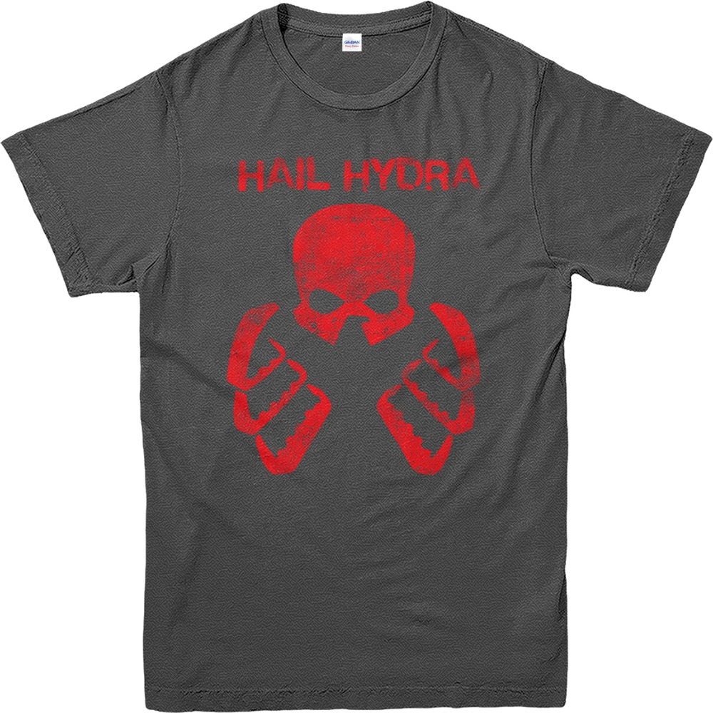 Printed T Shirts Online Popular MenS Short Sleeve Agents Of Shield Hail Hydra O-Neck Tall T Shirt