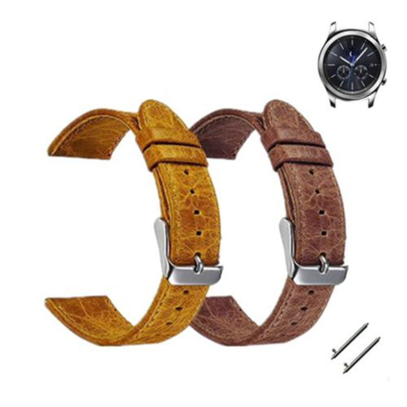 New Replacement Retro leather Wristwatch Band Strap Fit For Samsung Gear S3 Frontier T20 смарт часы samsung gear s2 black