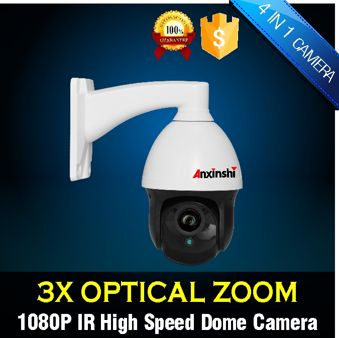 Outdoor CCTV Security TVI  1080P PTZ Camera 960P 1500TVL 2.5 Mini Speed PTZ Camera 3X ZOOM 2.8-8mm Auto Focus Coax PTZ TVI IP66 удлинитель zoom ecm 3