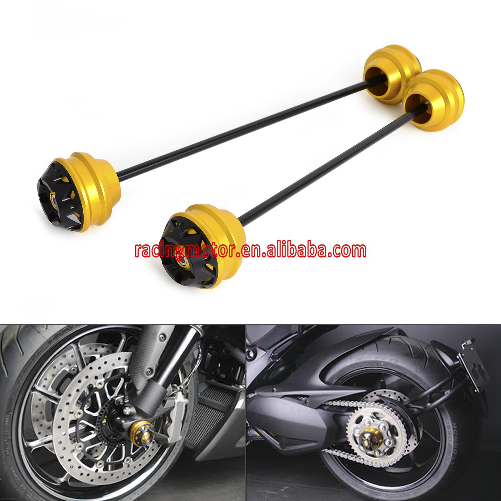 Frond & Rear Axle Sliders/ Swingarm Sliders for DUCATI Panigale 1199 2013-2015 Diavel 2011-2016 Superbike 1299 Panigale S 2015