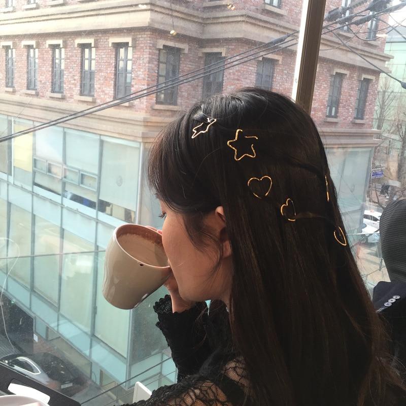 Hot Sale Women Girls Fashion Elegant  geometric Hair Clips alloy Hairpins Female Styling Accessories F017