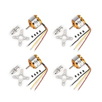 4Pcs XXD A2212 10T 1400KV 2 3S Outrunner Brushless Motor for RC Airplane Fixed wing Helicopter Multicopter Drone F450 S500