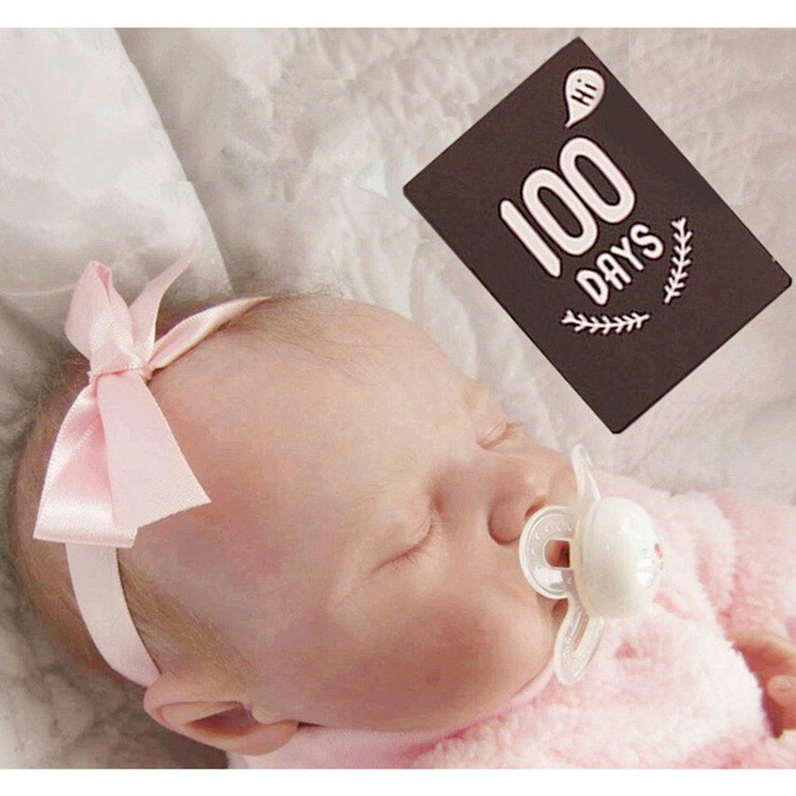 12//18//20PCS Baby Months Sticker Milestone Cards Pregnant Photography Props New