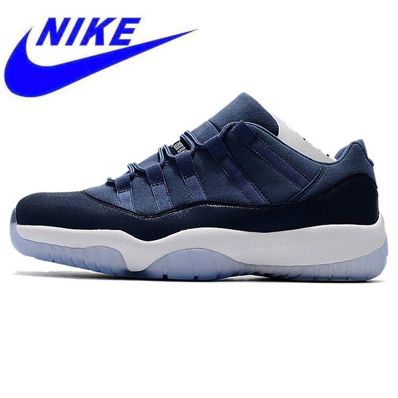 034b30e014c47d Износостойкие Легкие мужские баскетбольные кеды Nike Air Jordan 11 Retro Low  GG AJ11, темно синий, амортизация 580521 408 купить на AliExpress