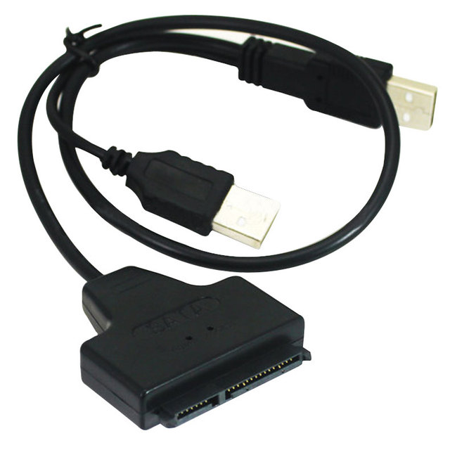 New Hot USB 2.0 to Sata Serial ATA 15+7 22p Converter Adapter Cable for 2.5 Inch HDD Laptop Hard Drive QJY99