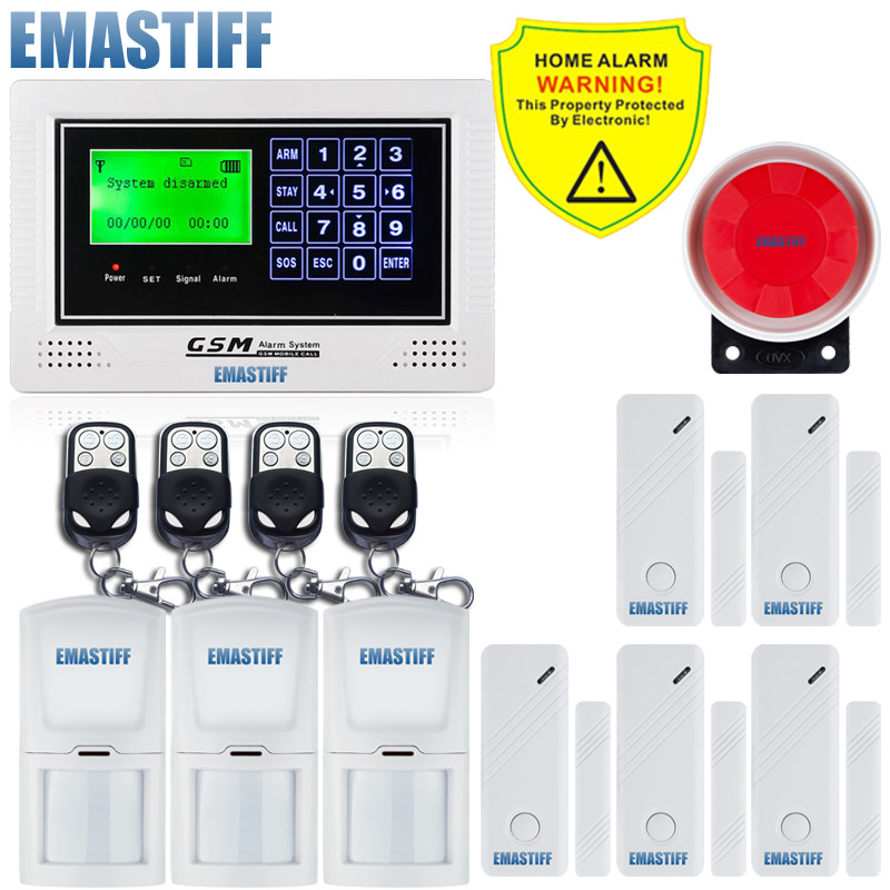 Free Shipping.G40A Wireless&Wired GSM SMS Menu screen Home/office/commercial/company Security Burglar Alarm System English Voice wireless smoke fire detector for wireless for touch keypad panel wifi gsm home security burglar voice alarm system