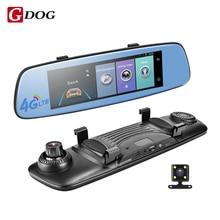 """Gdog E06 4G Coche DVR 7.84 """"ADAS táctil Remoto Monitor de visión Trasera espejo con DVR y cámara Android de Doble lente 1080 P WIFI dashcam"""