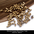 Wholesale-3000 pieces/Lot Silicone Copper Micro Ring for Hair Extension, Free Shipping