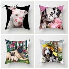 Fuwatacchi Animal Cushion Covers Various Dogs Throw Pillow Covers for Home Sofa Decor Funny Poppy Square Plush Pillowcases