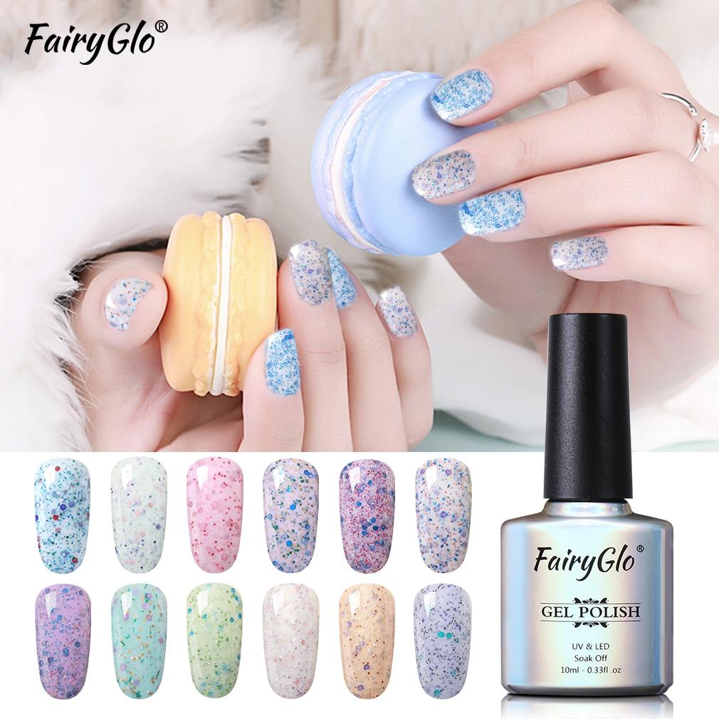 FairyGlo 10ML Cheese Sand Nail Gel Polish Soak Off Long Lasting Gel Varnish Manicure UV Gel Nail Vernis Semi Permanent Lacquer