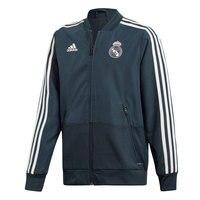 ADIDAS REAL MADRID 18/19 man Real Madrid football jacket nylon dark gray Real Madrid jacket, Adidas Real Madrid