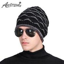 [AETRENDS] 2016 Новая Шляпа Плюс Толстые Бархатные Внутри Зима Теплая Шапочка Шляпы для Мужчин Шапочки Бонне Z-3907