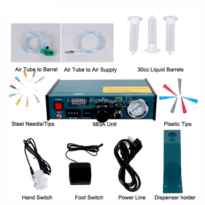 Auto Glue Dispenser Solder Paste Liquid Controller Dropper Fluid YDL 983A phone lcd repair 1 set auto glue dispenser solder paste liquid controller dropper ydl 983a dispensing system 110v