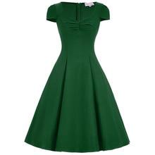 Sarafan Summer Dresses For Women Classy Floral Print Pin Up Swing Rockabilly 50s Vintage Dress Vestidos Plus Size Women Dress