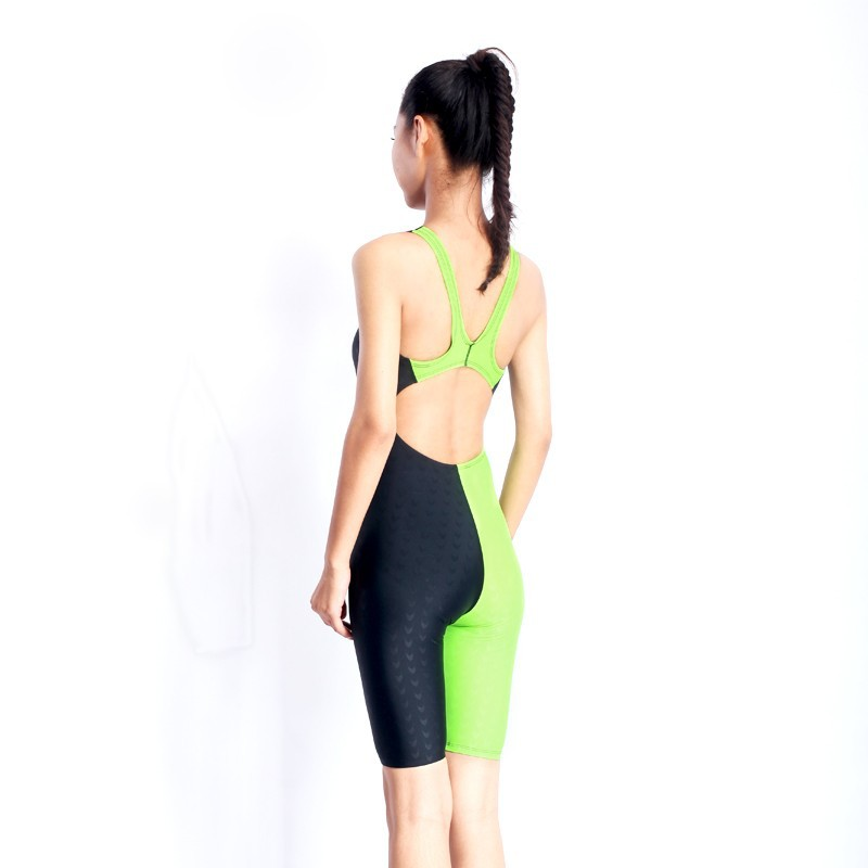 HXBY swimwear girls racing swimsuits sharkskin professional swimsuits knee one piece competition swim suits one piece 23