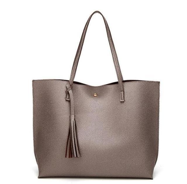 399b0be4a8 LKPRBD brand bag Luxury Tassel Pendant Design PU Women Leather Shoulder  bags Large Tote Top-Handle hot sell Handbags 7 colors