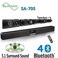 Nobsound SA 705 Bluetooth Soundbr 5.1 surround sound home theater 4 Middle bass 2 tweeters 2 Low Frequency Enhancement Speaker