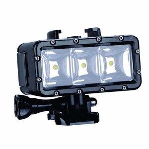 Image 4 - Ir Pro 30 m Mergulho Flash Led Luz Subaquática da lâmpada (2xHero4 Baterias) para GoPro Hero 6 5 3 + Sessão de Xiaomi yi 4 K + lite SJCAM sj4000